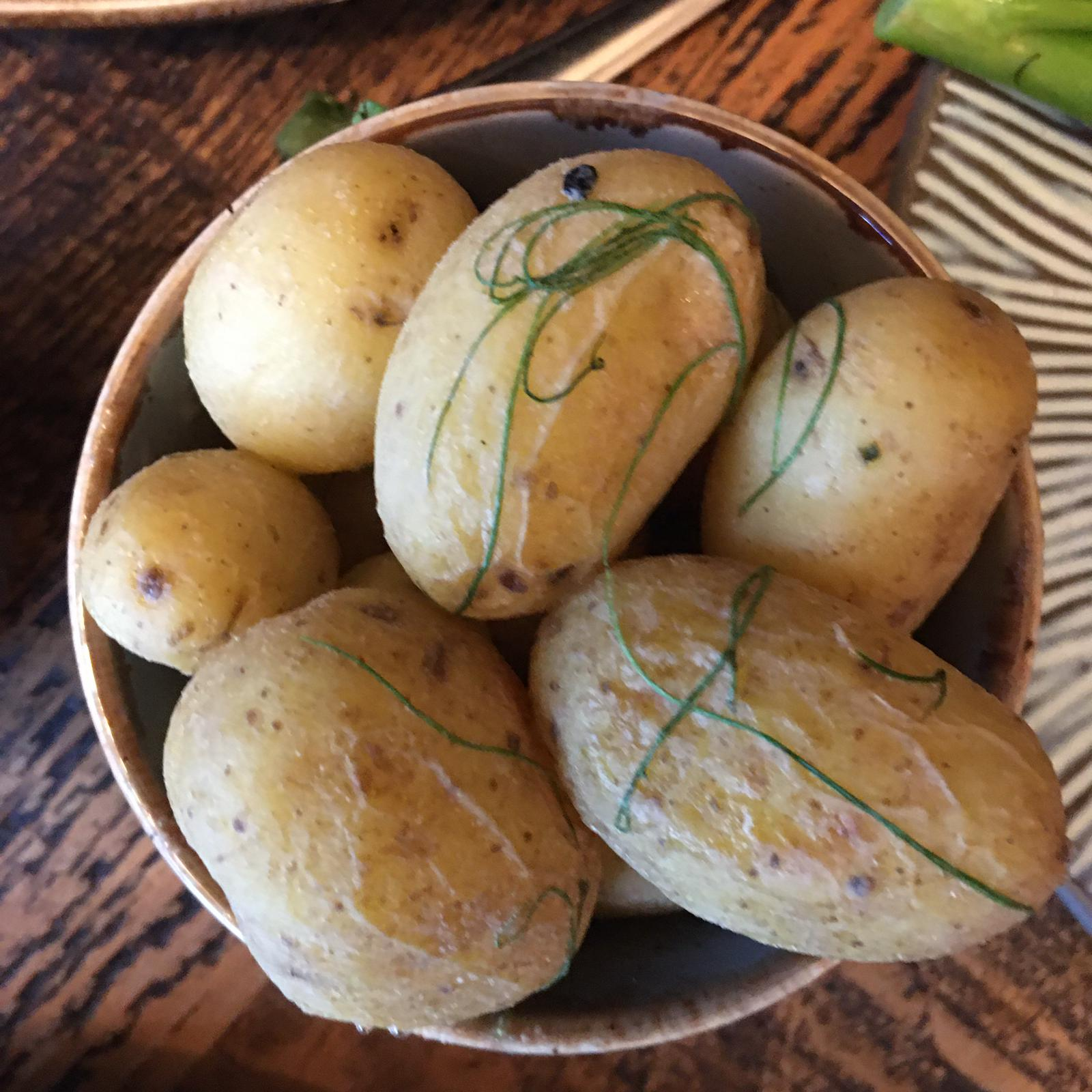 New Potatoes Essentials Menu Coach House Inn Winterbourne Abbas Dorset