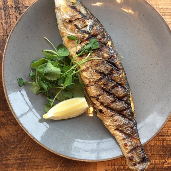 Whole Sea Bass From The Grill Coach House Inn Winterbourne Abbas Pub